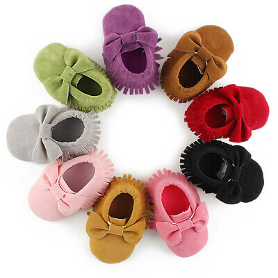 Infant Baby Newborn Soft Sole Suede Shoes Toddler Crib Boy Girl Moccasins Shoes