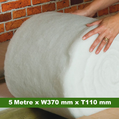 *NEW SIZE* Itch Free Loft Insulation Roll – 5 Metre x W370 mm x T110 mm