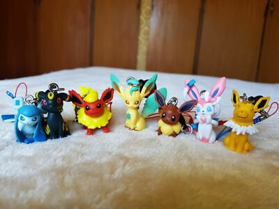 Pokemon Jolteon Eevee Figure Dangler Mascot Tomy Cell Phone Strap