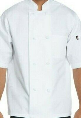 Dickie's unisex knot button CHEF COAT White DC48 Size M