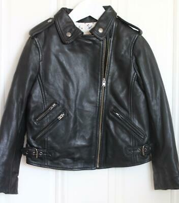 Bonpoint Kids Girls Thelma Leather Jacket 6 Years