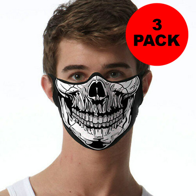Skull FACE MASK 3 PACK Cover Your Face Masks