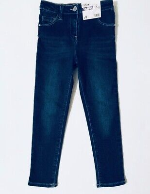 Next Brand New Skinny Slim Leg Denim Blue Diamante Jeans Age 4-5 Years Bnwot