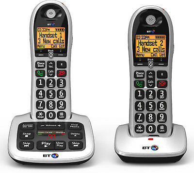 BT 4600 Twin Big Button Digital Cordless Telephones with Advanced Call Blocker