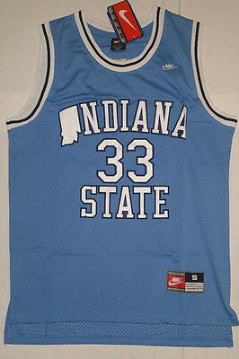 Larry Bird Indiana State Men's Jersey # 33 Blue New with tags NWT