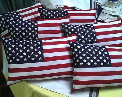 """Patriotic American Flag Pillow Red, Wht, Blue -USA     11"""" x 17"""""""