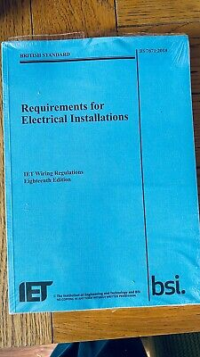 IET Wiring Regulations 18th Edition,  New Sealed