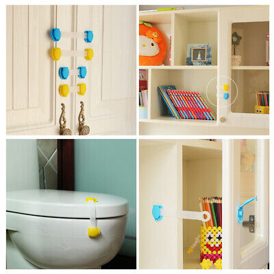 10pcs Baby Safety Protection Lock Kids Baby Anti-Clip Door Fridge Drawer Latches