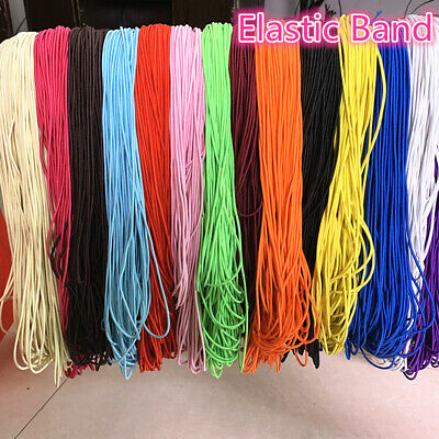 5yds 2/2.5mm High Elastic Round Elastic Band Rubber Band Elastic Cord Diy Sewing