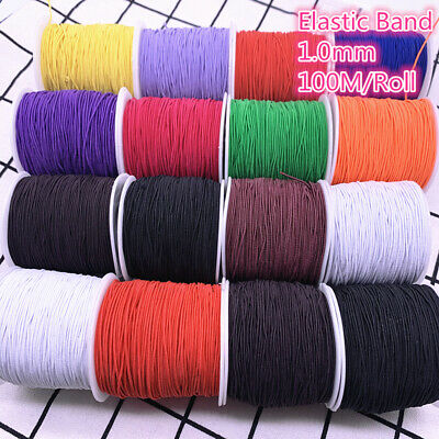 100M/Roll 1.0mm High Elastic Round Elastic Band Rubber Band Elastic Cord Diy