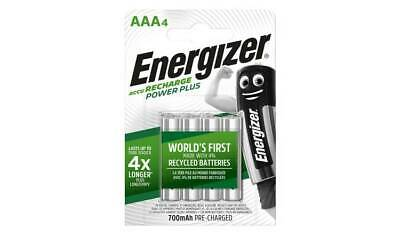 ENERGIZER AAA 700mAh POWER PLUS RECHARGEABLE BATTERIES PRE-CHARGED