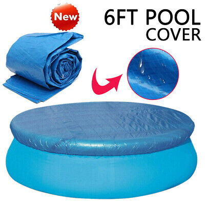 6FT Round Swimming Pool Cover for Garden Outdoor Paddling Fast Set Family Pools