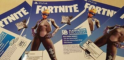 Fortnite Epic Neo Versa Outfit Back Bling 500 V-Bucks Download Code USA PS4 NEW