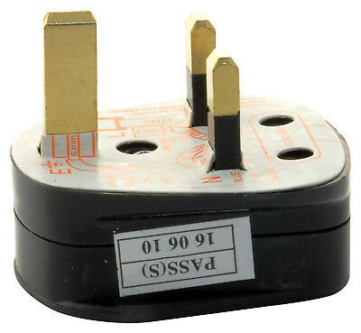 UK 3-Pin 3Amp Mains Plug with 5A Built-In Fused with Shrouded Pins Pack of 2