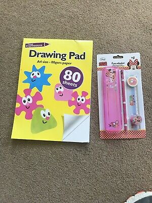 Drawing Pad A4 And five piece Mini Mouse school set