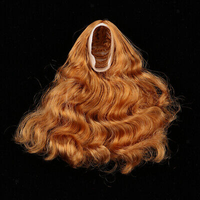 1:6 Scale Long Curly Hair Hairpiece Wigs For 12 Inch Action Figures Accs