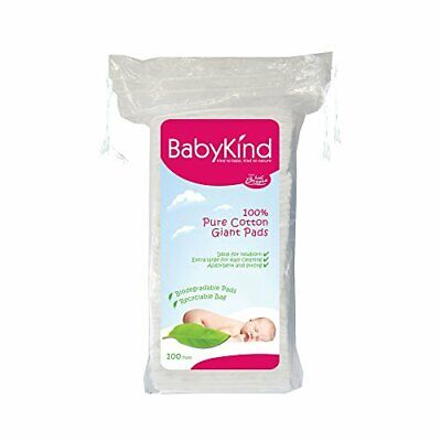 BabyKind Giant Square Cotton Pads - Pack of 600