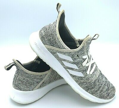 Adidas Cloudfoam Pure Womens Size 7 Casual Knit Running Shoes Cloud White DB0695