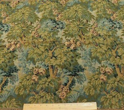 """Antique c1890 French Cotton Jacquard Scenic Tapestry Fabric~L-26""""X W-32"""""""