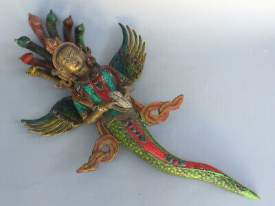 Chinese Exquisite Handmade mythology figure copper statue