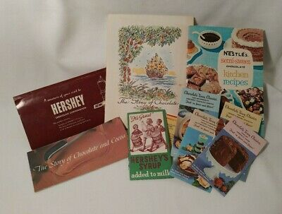 Nestle Hershey's Story of Chocolate Lot of Recipe Books Vintage Book 1957-1964