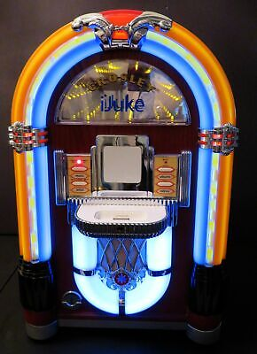 Crosley Cr-17 Jukebox Lights, Infinity Lights, Bubbles Works W/Old Iphone & Ipod