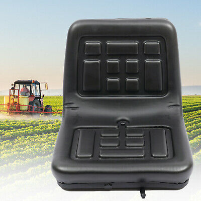 Durable Universal Tractor Seat Black Dumper Mower Replacement Part 150mm slide