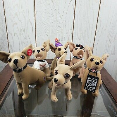 Lot of 6 Taco Bell Chihuahuas - Plush Dogs - Talk Vintage