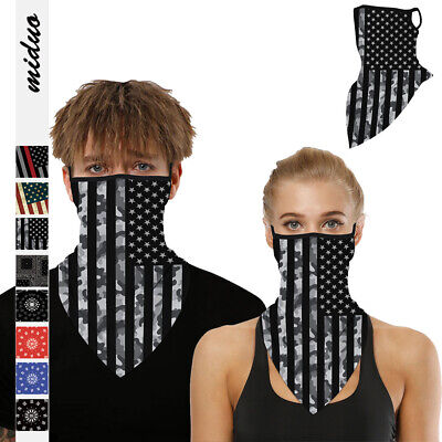 Tube Scarf Bandana Head Face Scarf Mouth Cover Headband Snood Outdoor Ear Loops