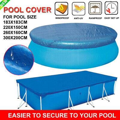 Rectangle/Round Swimming Pool Cover for Garden Outdoor Paddling Family Pools Lot