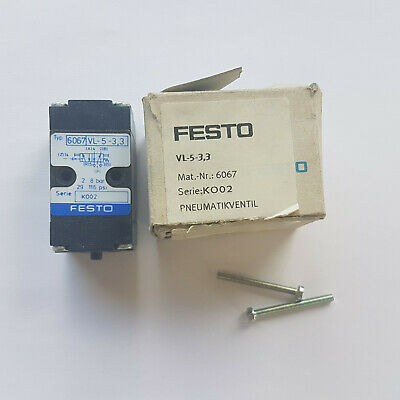 FESTO VL-5-3, 3 6067 Pneumatic Valve - New/Boxed Worldwide Ship Eu, Invoice