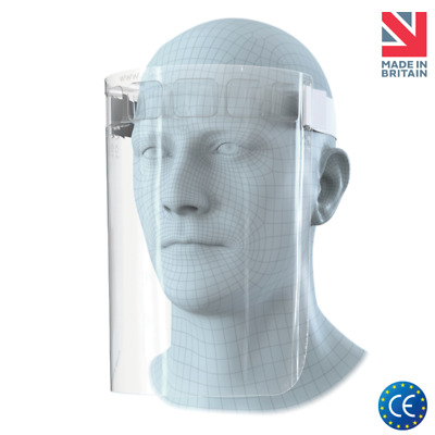 Full Covering PPE Adjustable Face Visor Shield Protection CE Marked UK Made