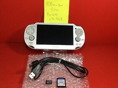 16GB SONY PS Vita Console System PCH-1000 ICE SILVER Wi-fi Model soft JAPAN 5