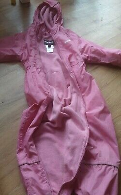 Peter Storm girls all in one Waterproof , fleeclined snowsuit age 24-36 months.