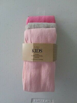 Marks and Spencer girls tights age 3 -4 years 3 pairs BNWT