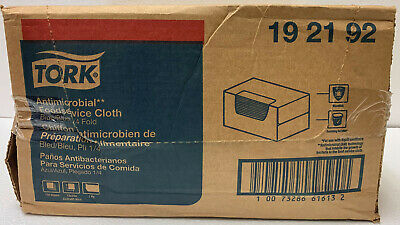 "Tork 192192 Foodservice Cloth, 24"" x 13"", Blue, 150/Box"