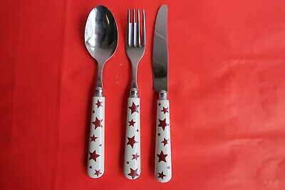 Emma Bridgewater Red Star Cutlery, knife, spoon and fork new