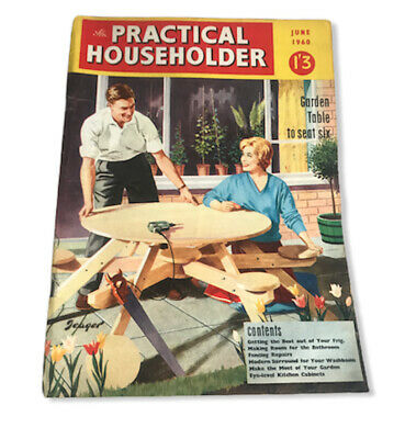 Vintage Practical Householder Magazine June 1960 Collectable 60th Birthday !
