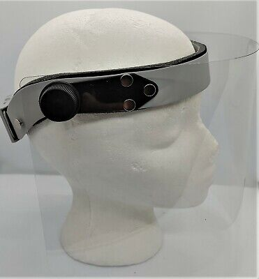 Dental Headband with Face Shield for LED light and Loupes