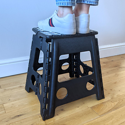 Kct Multipurpose Portable Folding Stool Home Small Seat Plastic Collapsible Step