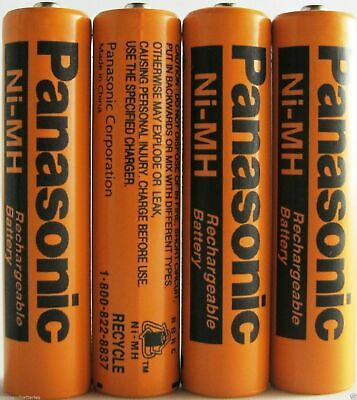 4 Pack Panasonic NiMH AAA Rechargeable Battery for Cordless Phones 750MAH