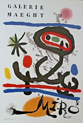 Joan Miro Lithograph Galerie Maeght Exhibition Poster 1978   16 x 11