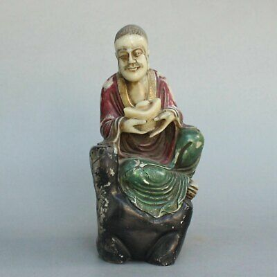 Chinese Exquisite Hand carved Buddha carving Shoushan Stone statue