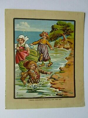 Vtg Children's Book Page Illustration Only, Nursery Rhyme Print Wall Decor
