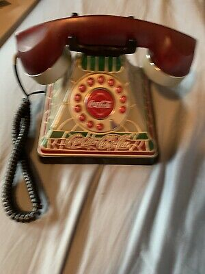 2001 Coca Cola Stained Glass Phone.    D2