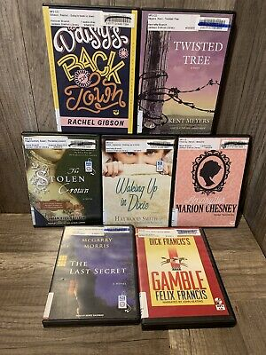 7 audiobook LOT books on MP3 CD audio book By Various authors and genres Lot 51