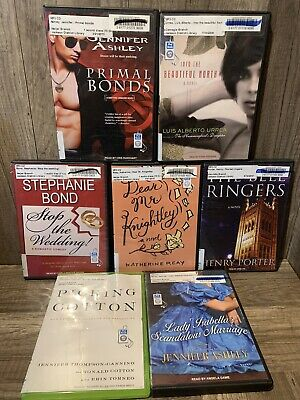 7 audiobook LOT books on MP3 CD audio book By Various authors and genres Lot 54