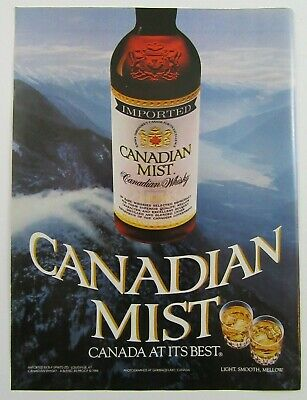 1984 CANADIAN MIST Imported Canadian Whisky 80 Proof Magazine Print Ad