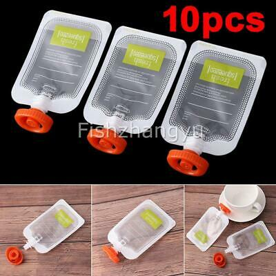 10X Reusable Baby Squeezed Pouch Weaning Food Puree Squeeze Storage Food Bags