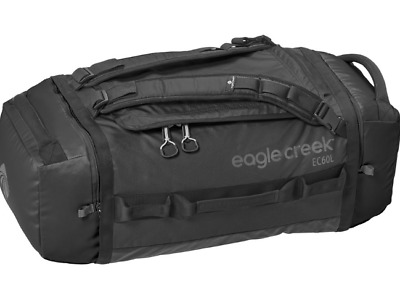 Eagle Creek Backpacker Cargo Hauler Duffel Bag 60L Medium  Black